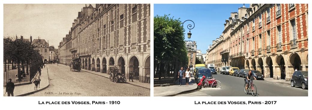La place des Vosges, vers 1910