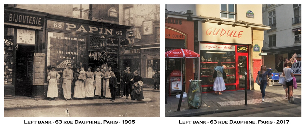 Left bank - 63 rue Dauphine, Paris - 1905