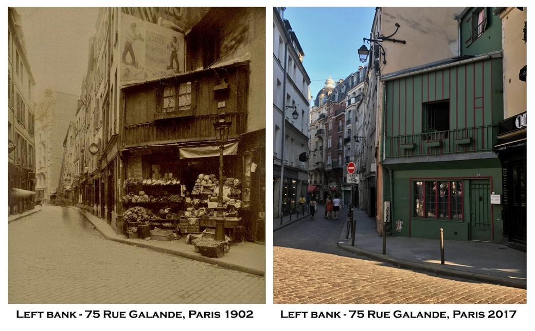 Left bank - 75 Rue Galande 1902