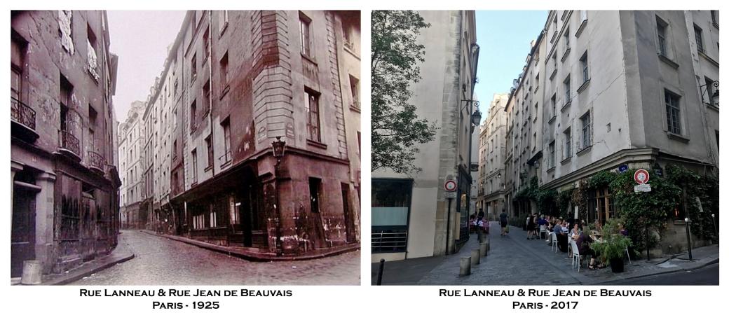 Rue Lanneau - 27 Rue Jean de Beauvais )aris 1925