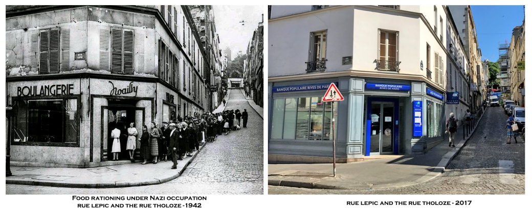 rue lepic and the rue tholoze- 18th- 1942