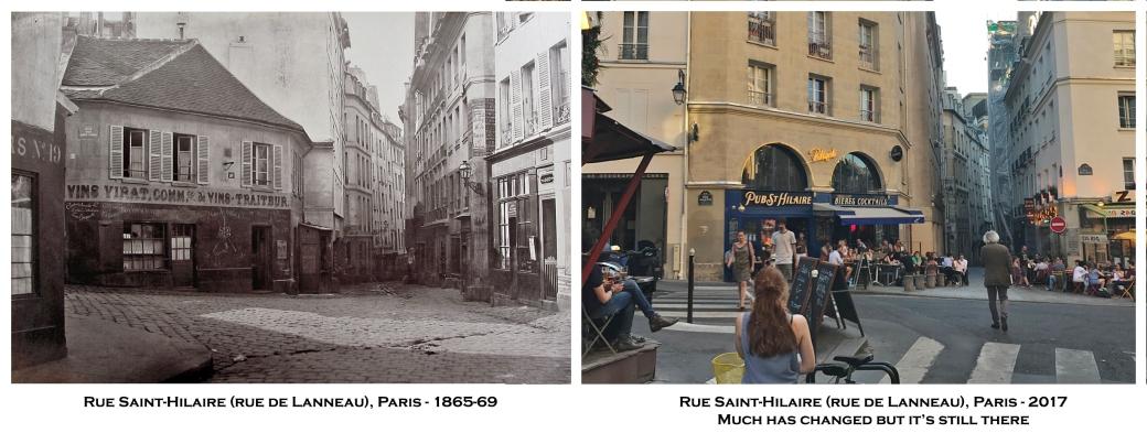 Rue Saint-Hilaire (rue de Lanneau), Paris - 1865-69