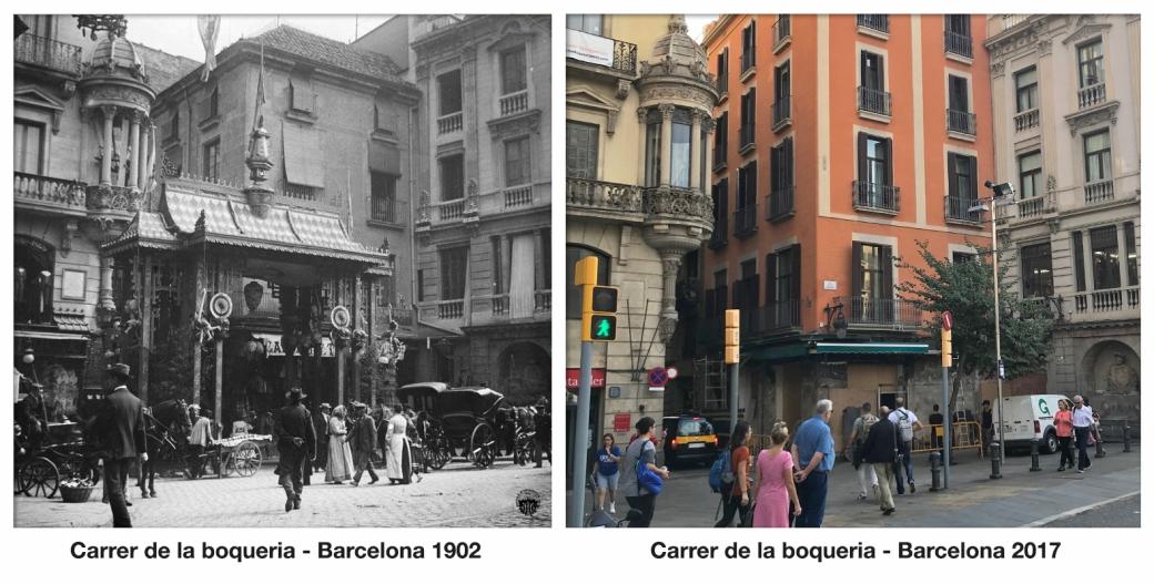 Carrer de la boqueria - Barcelona 1902