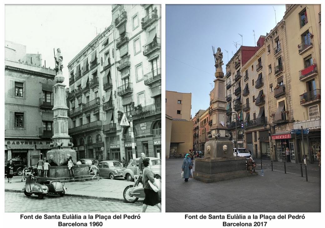 Font de Santa Eulàlia a la Plaça del PedróBarcelona 1960