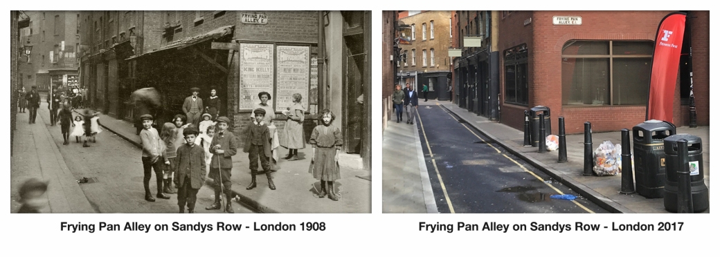 Frying Pan alley on Sandys Row 1908