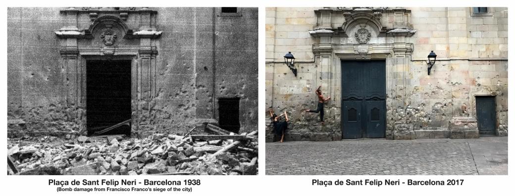 Plaça de Sant Felip Neri - Barcelona 1938