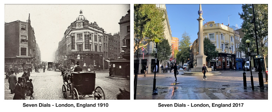 Seven Dials with The Crown Pub & Shops1910