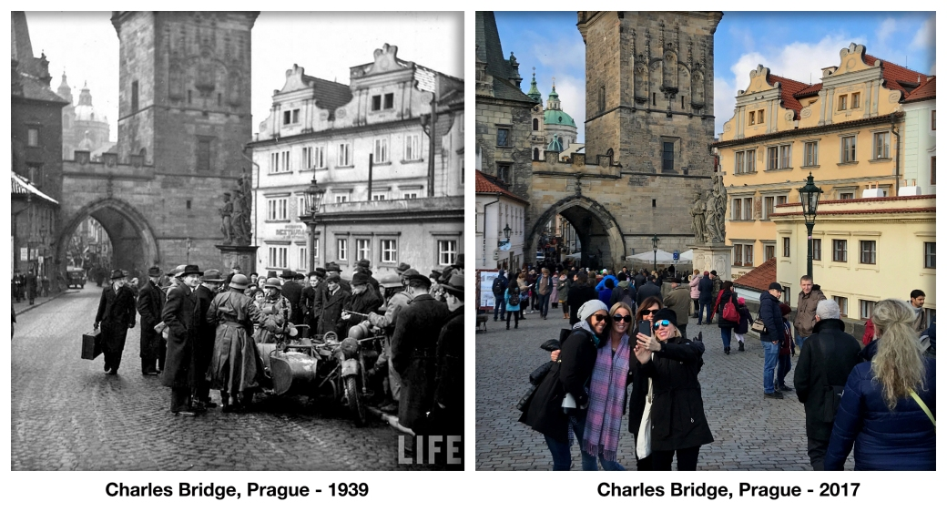 Charles Bridge, Prague - 1939