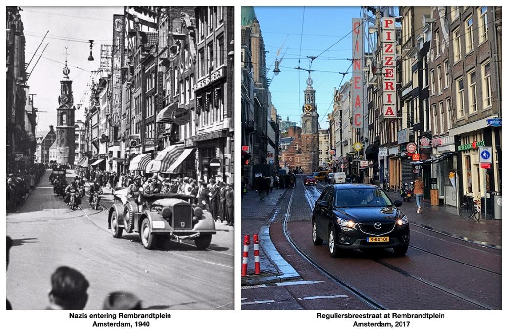 Nazis entering Rembrandtplein Amsterdam_1940
