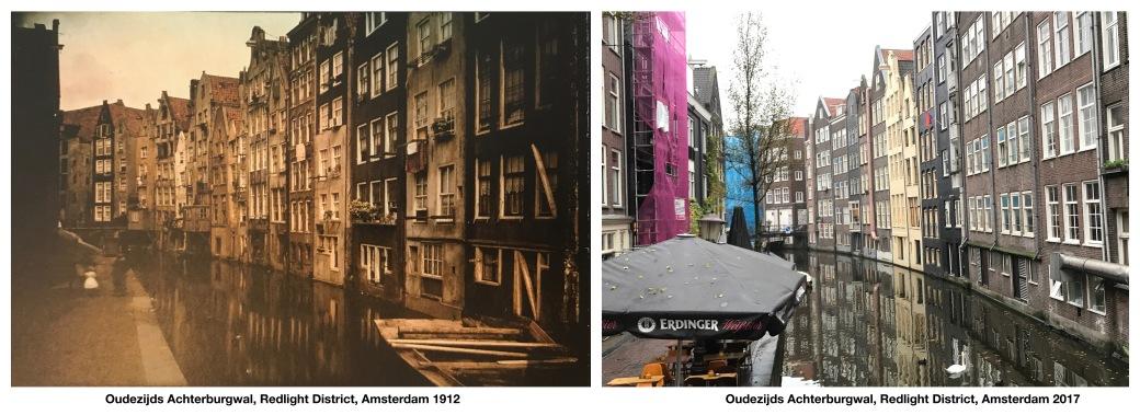 Oudezijds Achterburgwal sm, Redlight District, Amsterdam 1912