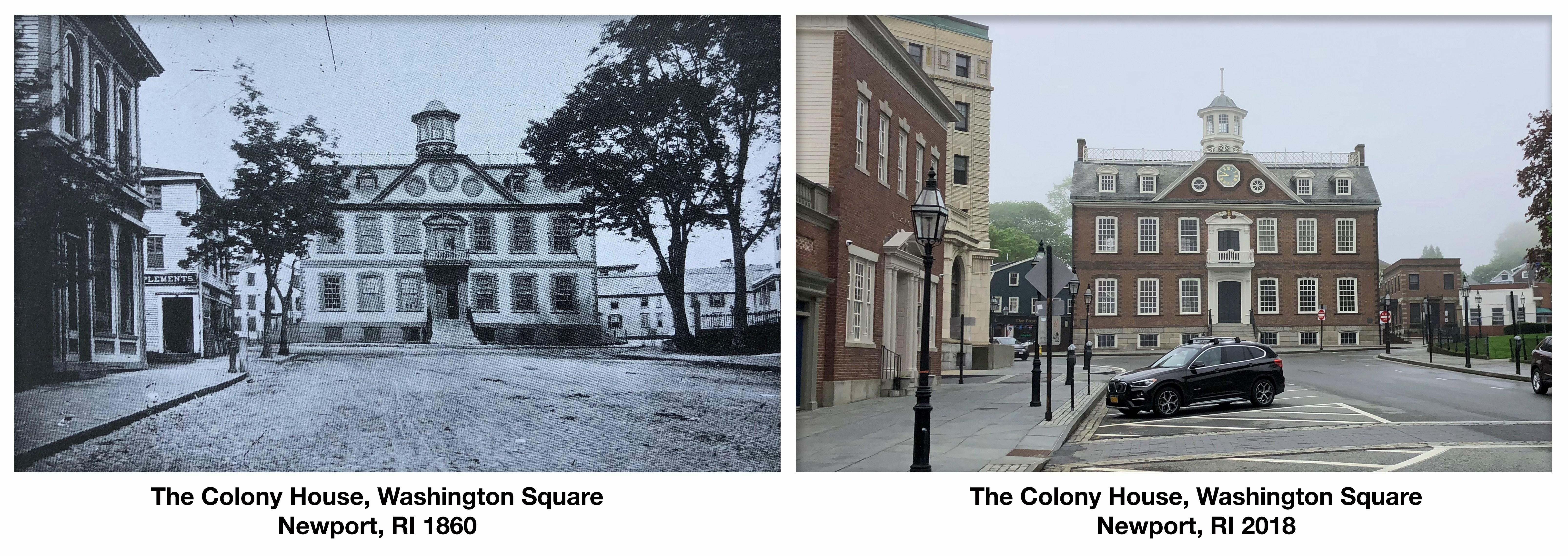 history then and now newport rhode island colony house washington square Jason Gardner