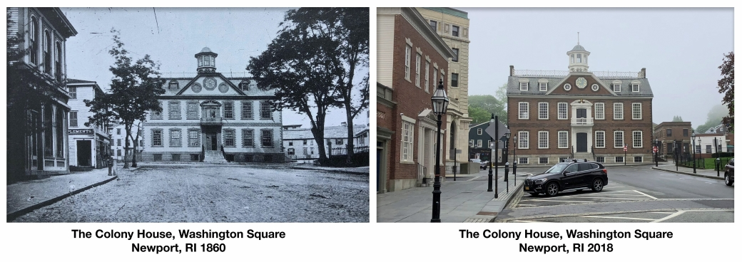 history then and now newport rhode island colony house washington square Jason Gardner