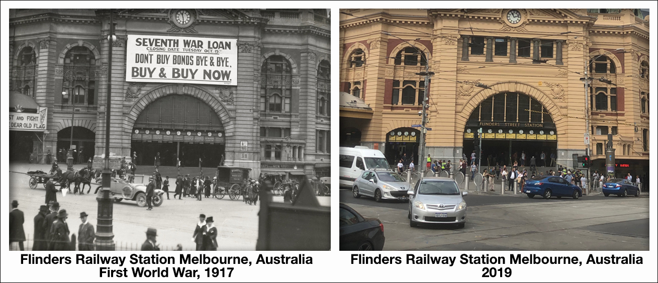 Flinders Railway Station Melbourne, AustraliaFirst World War, 1917